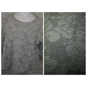 Coral Bay Top 3/4 Sleeve Floral Thermal Style A96